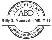 American Board of Dermatology Certification Seal for Gilly S. Munavalli, MD, MHS