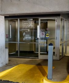 Charlotte office parking deck entrance
